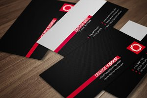 Red & Black Business Card CM025