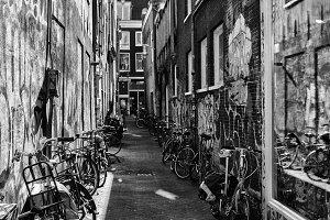Amsterdam street bikes