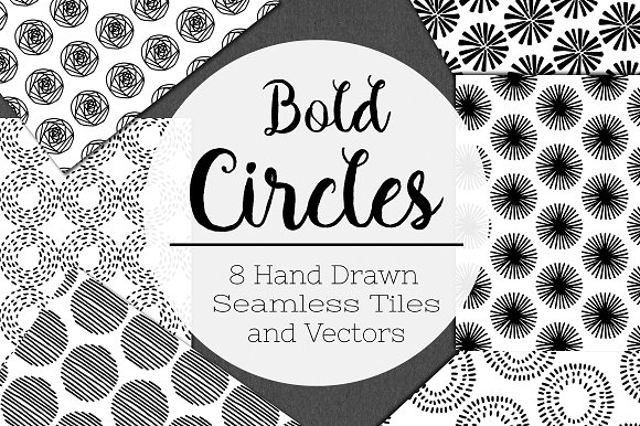 Bold Circles Seamless Patterns