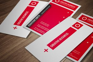 Red & White Business Card CM028
