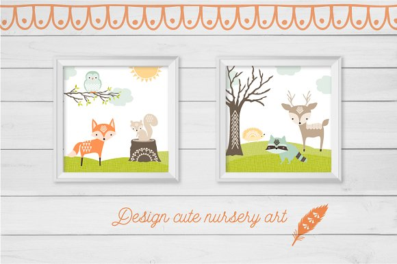 Cute Baby Woodland Graphics in Illustrations - product preview 2