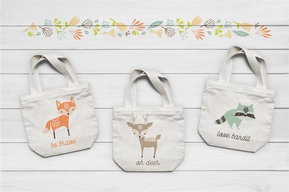 Cute Baby Woodland Graphics in Illustrations - product preview 3