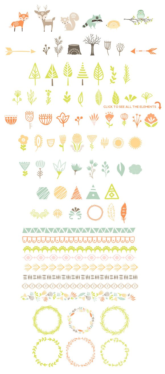 Cute Baby Woodland Graphics in Illustrations - product preview 5