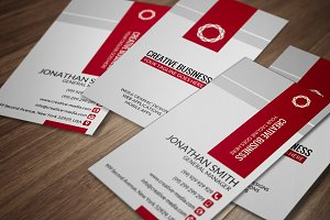 Red & White Business Card CM029