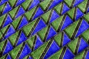 Tanzania Flag Urban Grunge Pattern