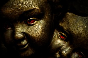 Dark Angels Closeup Portrait