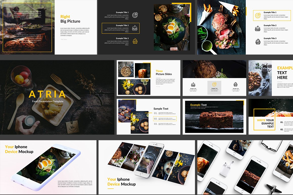 Food Powerpoint Template Presentation Templates Creative Market