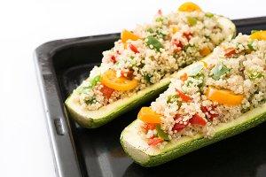 Stuffed zucchinis
