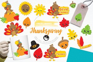 Thanksgiving illustration pack