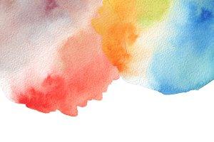 watercolor blot paint