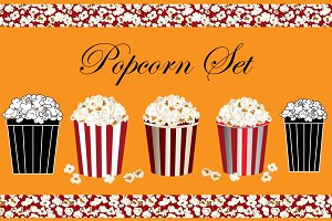Popcorn Set : Vector Collection