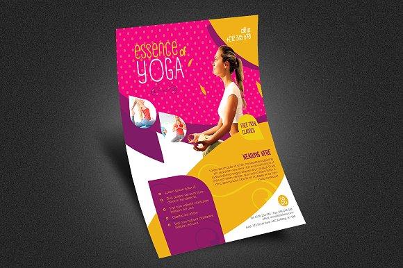 Yoga Flyer Fitness Flyer V1 Flyer Templates on Creative Market – Yoga Flyer
