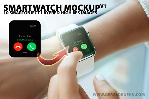 Smartwatch Mockups Bundle v1