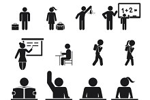 School Children Icons