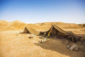 Tent in Sahara desert, Tunisia