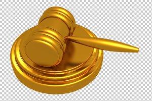 Law Hammer - 3D Render PNG