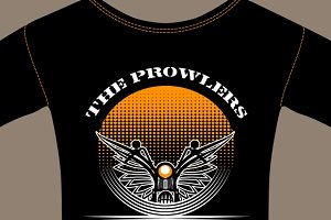 T-shirt template for motorcycle club