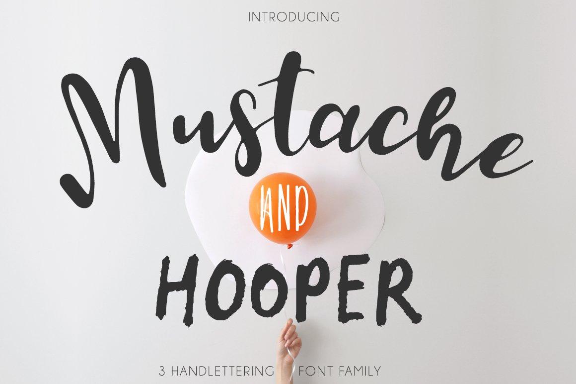 Mustache pack fonts script creative market