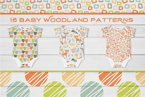Baby Woodland Vector Patterns