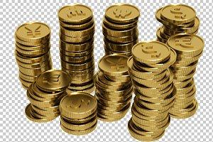 Coins - 3D Render PNG