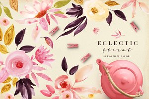 Eclectic floral set