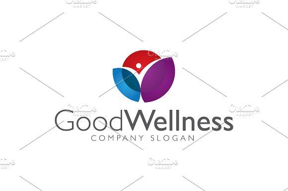 good wellness logo logo templates creative market