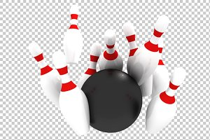 Bowling - 3D Render PNG