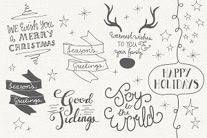 Christmas Overlays Set 4 - Vector