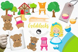 Goldilocks illustration pack