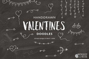 Valentines Clip Art Doodles