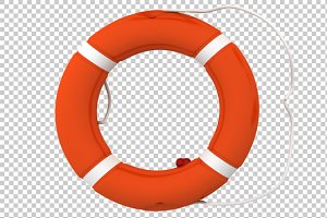Lifebuoy - 3D Render PNG