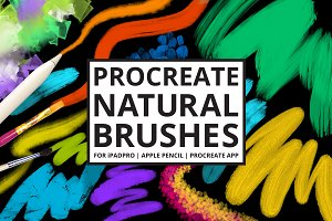 30 Procreate-4 Natural Media Brushes