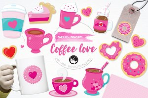 Coffee love illustration pack