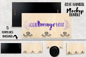 Wood Coat Hanger Mockup