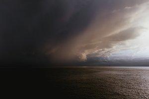 Rain on Lake Leman