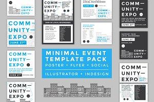 Minimal Poster/Flyer/Social Kit