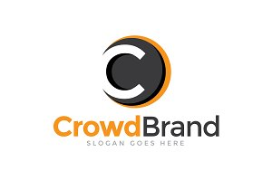 Crowd Brand Letter C Logo