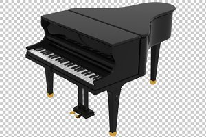 Piano - 3D Render PNG