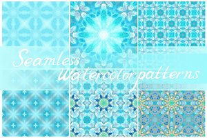 Set of seamless decorative patterns