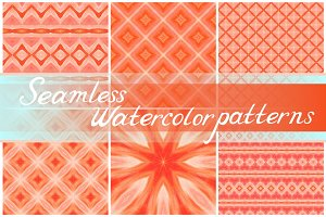 11 watercolor seamless patterns