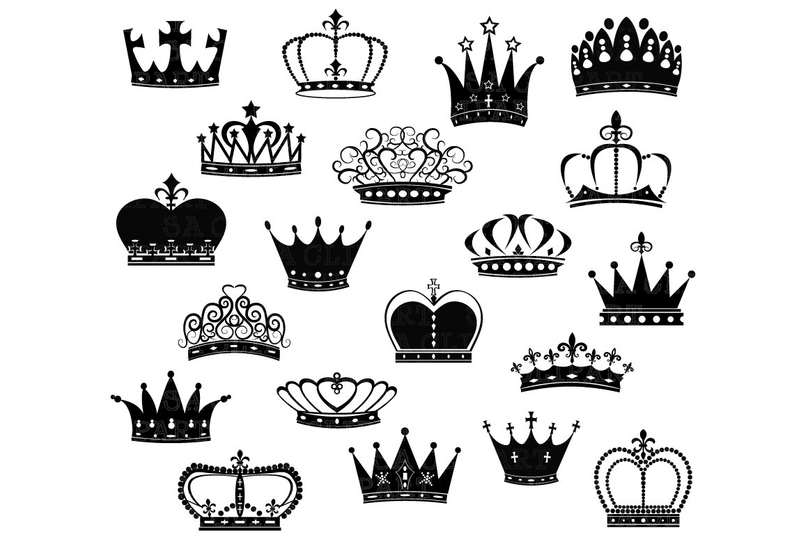 Crown Silhouette ClipArt ~ Illustrations ~ Creative Market