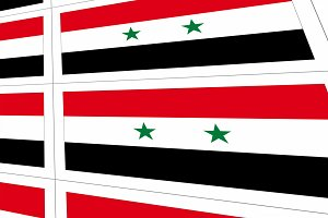 Postcards with Syria national flag