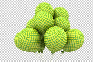 Pattern Balloon - 3D Render PNG