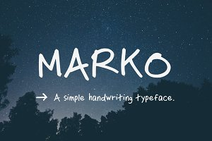 Marko Handwriting Typeface
