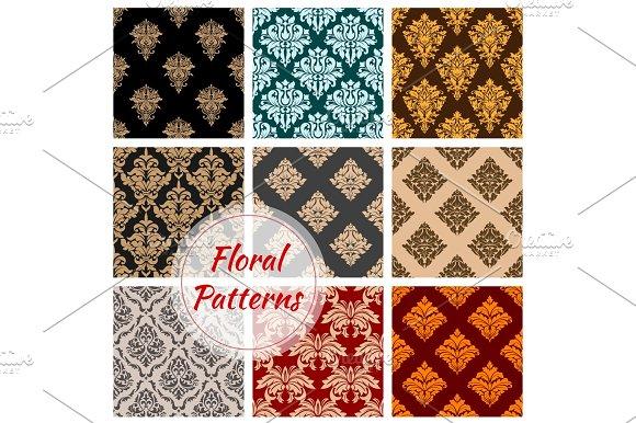 Vintage Floral Seamless Pattern Background