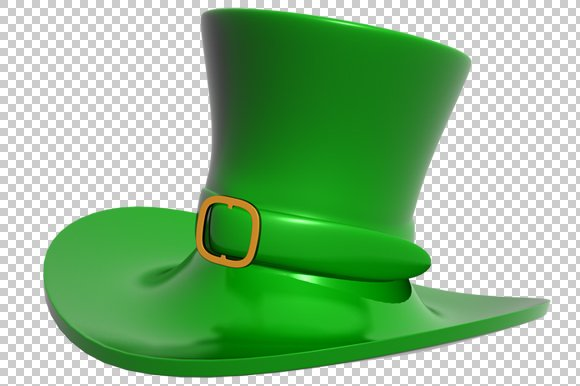 St. Patrick's Day Hat - 3D -PNG
