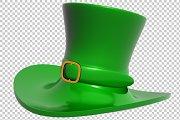 St. Patrick's Day Hat - 3D -PNG