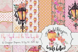 Shabby Chic Watercolor Digital Paper