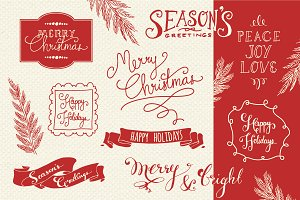Christmas Overlays Set 2 - Vector