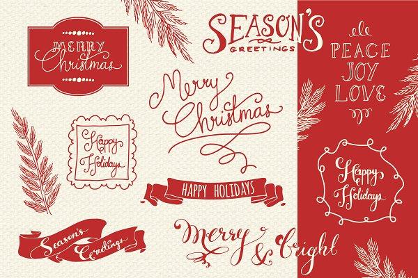 Christmas Overlays Set 2 - Vector